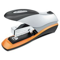 Swingline Optima Desktop Staplers, Half Strip, 70-Sheet Capacity, Silver/Black/Orange SWI87875