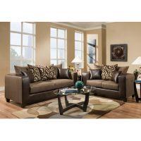 Flash Furniture Riverstone Object Espresso Chenille Living Room Set FHFRS412001LSSETGG