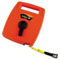 Lufkin Hi-Viz Linear Measuring Tape Measure, 1/2in x 100ft, Orange, Fiberglass Tape LUF706D