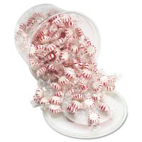 Office Snax Starlight Mints, Peppermint Hard Candy, Individual Wrapped, 2 lb Resealable Tub OFX70019