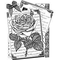 """Crafty Individuals Unmounted Rubber Stamp 4.75""""X7"""" Pkg NOTM039904"""