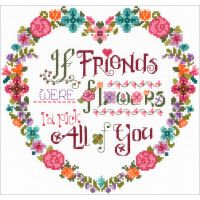 Flower Friends Counted Cross Stitch Kit NOTM098830