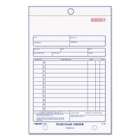 Rediform Purchase Order Book, Bottom Punch, 5 1/2 x 7 7/8, 3-Part Carbonless, 50 Forms RED1L141