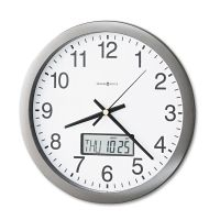 "Howard Miller Chronicle Wall Clock with LCD Inset, 14"", Gray MIL625195"