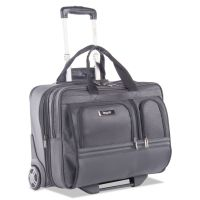 "Harry Business Case on Wheels, 8.25"" x 8.25"" x 13.5"", Polyester, Black BUGBZCW301BLK"