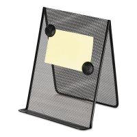 Universal Metal Mesh Document Holder, 9 x 8 5/8 x 11 3/8, Free Standing, Black UNV20027