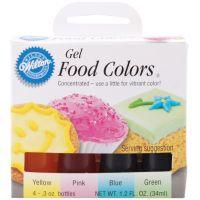 Gel Food Coloring Set 4/Pkg NOTM448965