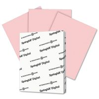 Springhill Digital Vellum Bristol Color Cover, 67 lb, 8 1/2 x 11, Pink, 250 Sheets/Pack SGH076000