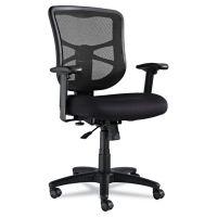 Alera Elusion Series Mesh Mid-Back Swivel/Tilt Chair, Black ALEEL42BME10B