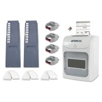 uPunch HN4600 Electronic Calculating Time Clock Bundle, Gray PPZHN4600