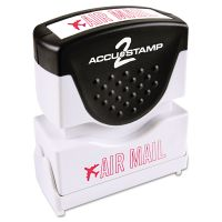 ACCUSTAMP2 Pre-Inked Shutter Stamp, Red, AIR MAIL, 1 5/8 x 1/2 COS035593