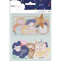 Dear Lizzy Star Gazer Ephemera Cardstock Die-Cuts 40/Pkg NOTM274945