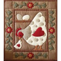 Spotty Hen Wall Quilt Kit NOTM441941