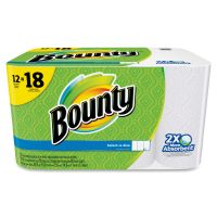 Bounty Select-a-Size Perforated Paper Towels, 11 x 5.9, 2-Ply, White, 95 Sheets/Roll, 12 Rolls/Pack PGC95026