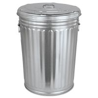 Magnolia Brush Pre-Galvanized Trash Can With Lid, Round, Steel, 20gal, Gray MNL20GALLONWLID