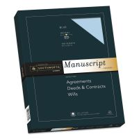 Southworth 25% Cotton Manuscript Covers, Blue, 30lb, Wove, 9 x 12 1/2, 100 Sheets SOU41SM