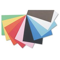Pacon Tru-Ray Construction Paper, 76 lbs., 12 x 18, Assorted, 50 Sheets/Pack PAC103063