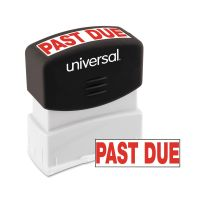 Universal Message Stamp, PAST DUE, Pre-Inked One-Color, Red UNV10063