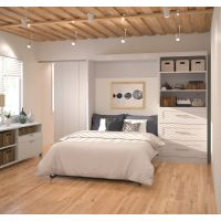 "Bestar Pur by Bestar 95"" Full Wall bed kit in White BESBES2689117"