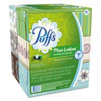 Puffs Plus Lotion Facial Tissue, White, 2-Ply, 8 1/5x8 2/5, 124/Box, 6Bx/Pk, 4Pk/Ctn PGC39383