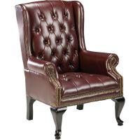 Lorell 777 QA Queen Anne Wing-Back Reception Chair LLR60605