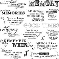 """Fiskars Quote Clear Stamps 8""""X8"""" Sheet NOTM430388"""
