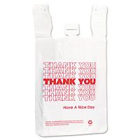 Inteplast Group T-Shirt Thank You Bag, 12 x 7 x 23, 14 Microns, White, 500/Carton IBSTHW2VAL