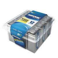 Rayovac Alkaline Battery, 9V, 12/Pack RAYA160412PPK