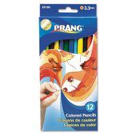 Prang Colored Wood Pencil Set, 3.3 mm, 12 Assorted Colors, 12 Pencils/Set DIX22120