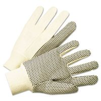 Anchor Brand 1000 Series PVC Dotted Canvas Gloves, White/Black, Large, 12 Pairs ANR1005