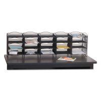 Safco Onyx Mesh Literature Sorter, 20 Compartments, 19 x 15.25 x 59, Black SAF7770BL