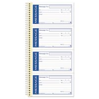 Adams Write 'n Stick Phone Message Pad, 2 3/4 x 4 3/4, Two-Part Carbonless, 200 Forms ABFSC1153WS