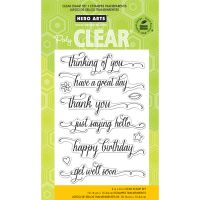 """Hero Arts Clear Stamps 4""""X6"""" Sheet NOTM329030"""