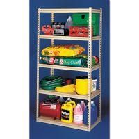 Tennsco Stur-D-Stor Shelving, Five-Shelf, 36w x 18d x 72h, Sand TNNLSS361872