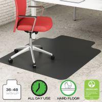 Deflecto EconoMat® Non-Studded Anytime Use Chairmat for Hard Floors DEFCM21112BLKCOM