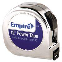 "Empire Power Tape Measure, 5/8"" x 12ft, Black Case EML612"