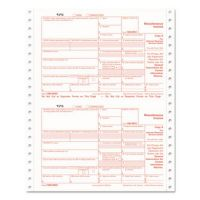 TOPS 1099-MISC Tax Forms, 4-Part Carbonless, 5 1/2 x 8, 24 1099s & 1 1096 TOP2299