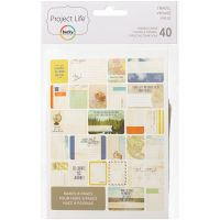 Project Life Themed Cards 40/Pkg NOTM171035