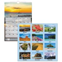 AT-A-GLANCE Scenic Monthly Wall Calendar, 12 x 17, 2019 AAGDMW20028