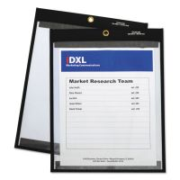 """C-Line Magnetic Stitched Shop Ticket Holders, Clear, 75"""", 9 x 12, 25/Box CLI85912"""