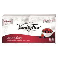 Vanity Fair Vanity Fair Everyday Dinner Napkins, 2-Ply, White, 300/Pack GPC3550314