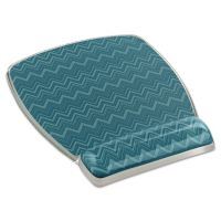3M Fun Design Clear Gel Mouse Pad Wrist Rest, 6 4/5 x 8 3/5 x 3/4, Chevron Design MMMMW308GR
