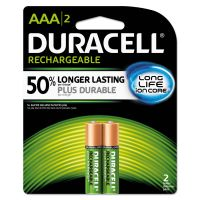 Duracell Rechargeable NiMH Batteries, AAA, 2/PK DURNLAAA2BCD