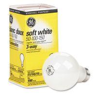 GE Three-Way Soft White Incandescent Globe Bulb, 50/100/150 Watts GEL97494