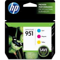 HP 951, (CR314FN) 3-pack Cyan/Magenta/Yellow Original Ink Cartridges, 700 Page Yield HEWCR314FN