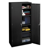 HON Assembled Storage Cabinet, 36w x 18-1/4d x 71-3/4h, Black HONSC1872P