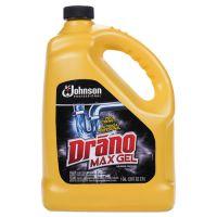 Drano Max Gel Clog Remover, Bleach Scent, 128 oz Bottle SJN696642EA