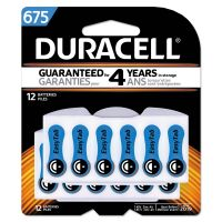 Duracell Button Cell Hearing Aid Battery #675, 12/Pk DURDA675B12ZMR0
