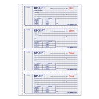 Rediform Money Receipt Book, 7 x 2 3/4, Carbonless Triplicate, 100 Sets/Book RED8L808