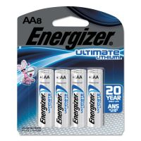 Energizer Ultimate Lithium Batteries, AA, 8/Pack EVEL91SBP8